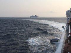 arrival at Piraeus port - on board hellenic highspeed