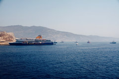 blue star patmos grounded at ios a