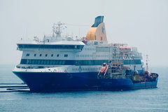 blue star patmos grounded at ios e