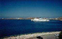 Panagia Ekatontapiliani departure from Paros port 1999
