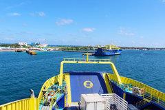 Ultracarga III arriving at Isla Mujeres Ferry Terminal Garage Deck