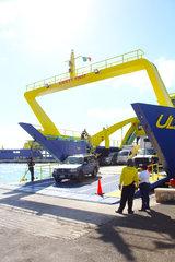Ultracarga III In Isla Mujeres ferry terminal  GarageDeck