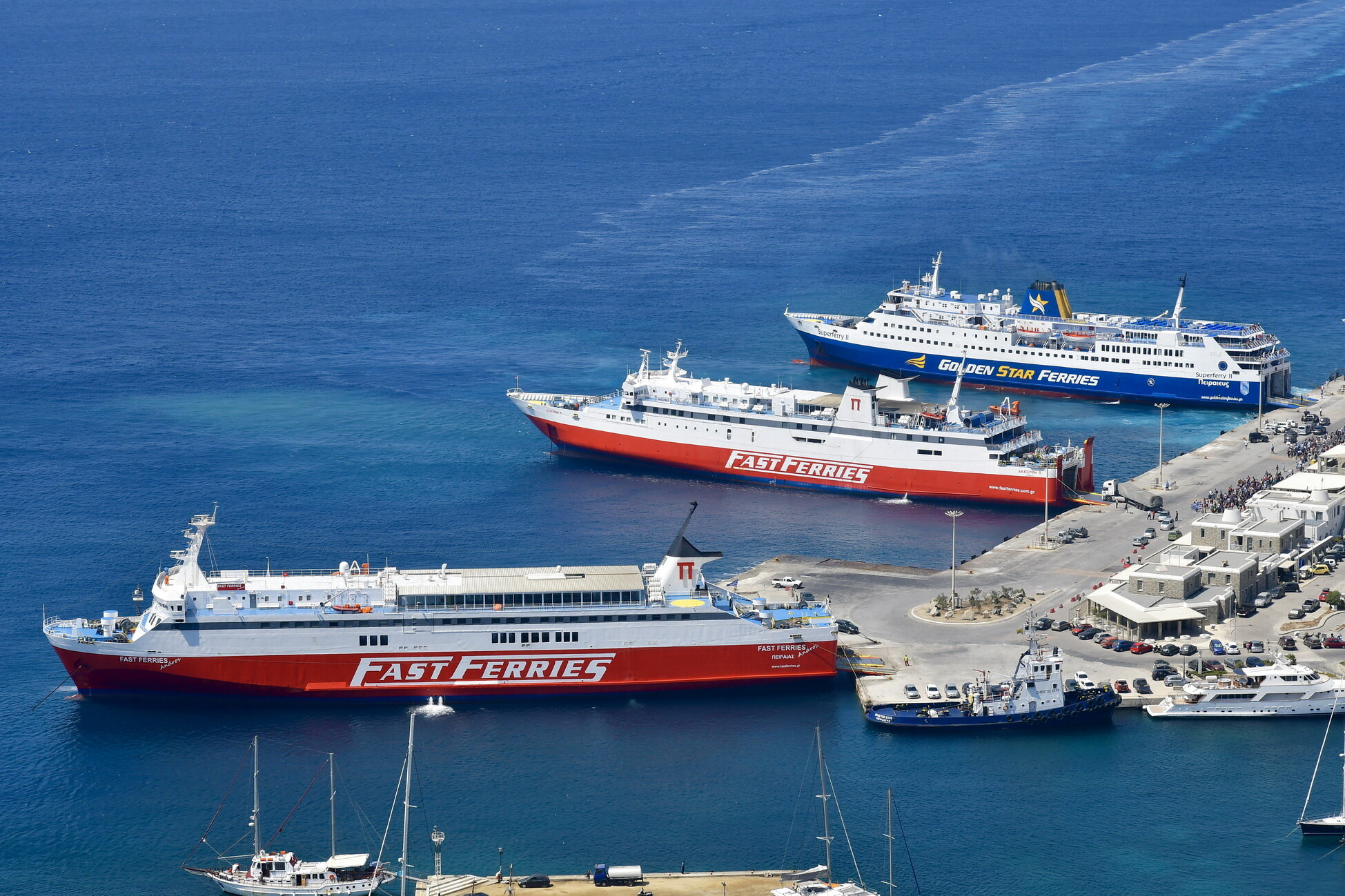 Superferry II_Ekaterini P_Fast Ferries Andros_24-08-18_Mykonos_2