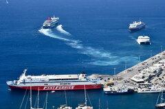 Nissos Mykonos_Naxos Jet_Ekaterini P_Fast Ferries Andros_31-08-18_Mykonos