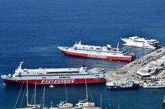 Fast Ferries Andros_Ekaterini P_Naxos Jet_31-08-18_Mykonos