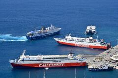 Superferry II_Naxos Jet_Ekaterini P_Fast Ferries Andros_24-08-18_Mykonos