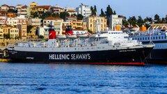 EXPRESS PEGASUS anchored at Kavala Port
