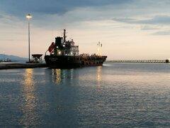 Aegean iii in Patras port
