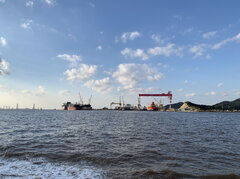 Zhoushan shipyards