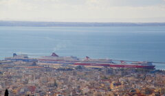 patras from above @patra 261219 c  eurocargo alexandria  cruise olympia superfast XI superfast I
