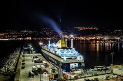 BLUE STAR MYCONOS |First time with new colours and livery at Kavala Port