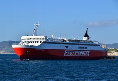 Fast Ferries Andros Entering Piraeus 3/2/2020 2