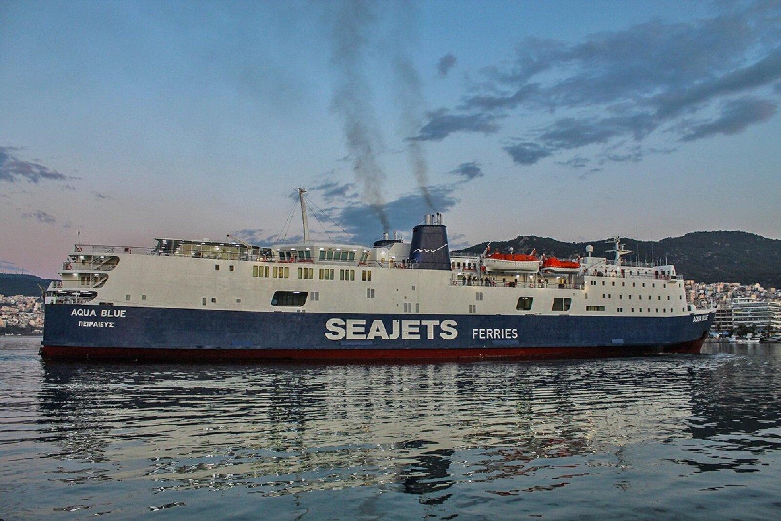AQUA BLUE Maiden arrival at Kavala Port