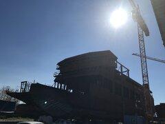 Antifonitis under construction (still) @ Macedonia Shipyards, Pylaia Municipality, 12032020