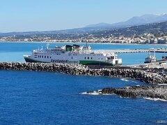 Olympus at Rethymnon port