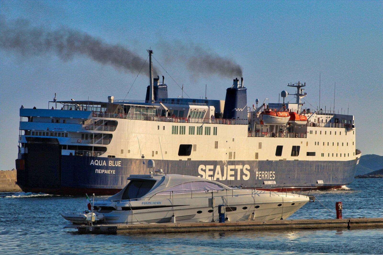 AQUA BLUE |Summer departure from Kavala Port