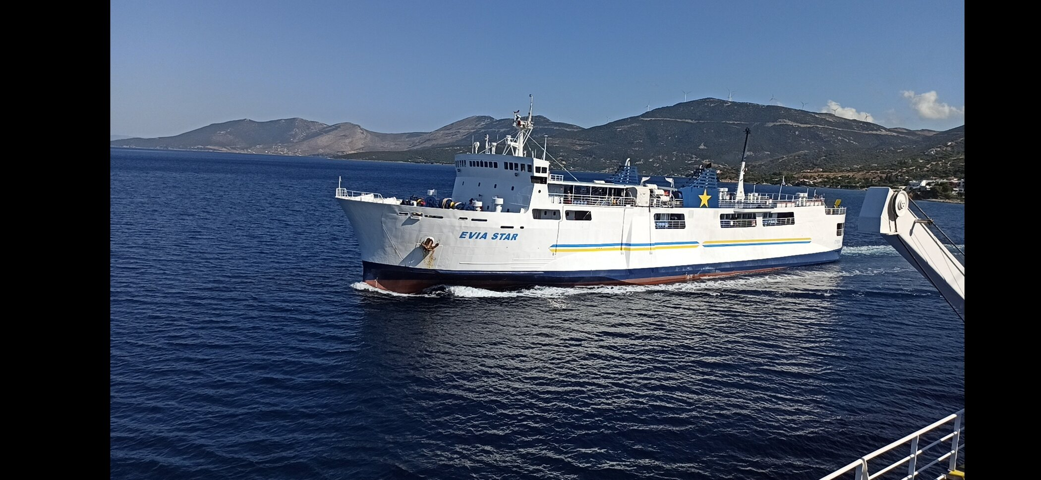 evia star from on board panorama