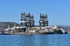 Discoverer Clear Leader_Ocean Rig Olympia_Ocean Rig Apollo_Ocean Rig Athena_Ocean Rig Mylos_29-08-20_Eleusis Roads