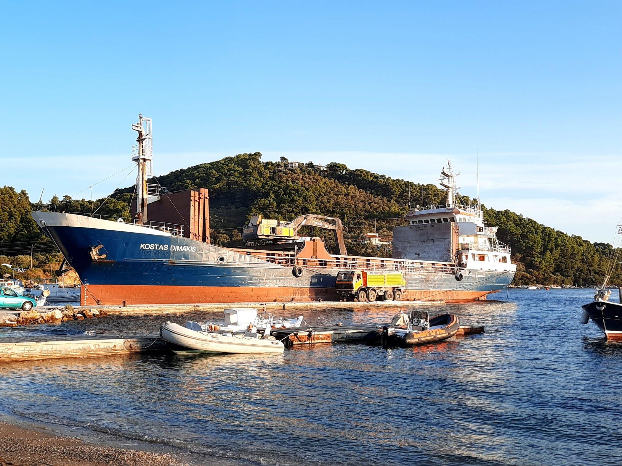 Docked at Agios Georgios (Skiathos port)