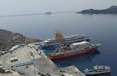 Blue star delos & Dionisios Solomos Athinios Port new dock