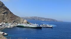 Olympus & World Champion jet Santorini Port