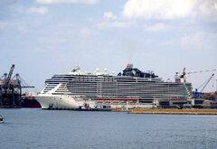 MSC SEASIDE at Taranto port 18.8.2021