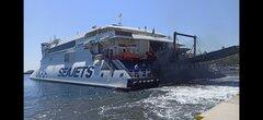 Naxos Jet departure from Karystos